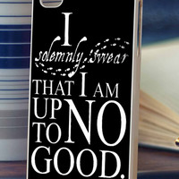 Harry Potter quote I Solemnly Swear That I Am Up To No Good  -  iPhone 6, iPhone 6+, samsung note 4, samsung note 3,iPhone 5C Case, iPhone 5/5S Case, iPhone 4/4S Case, Durable Hard Case