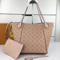 LV Louis Vuitton MONOGRAM LEATHER HINA HANDBAG TOTE BAG