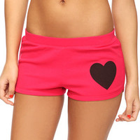 Jumbo Heart Thermal PJ Shorts