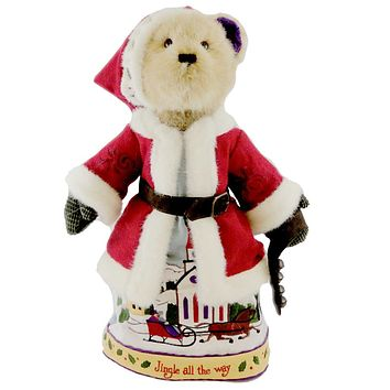 Boyds Bears Plush SLEIGH BELLS RING Fabric Christmas Jim Shore Santa 4019167