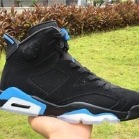 air jordan retro 6 unc men women Basketball Shoes University Blue 6s black blue sports Sneakers Athletics Shoes