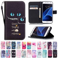 Credit Card Holder Wallet Stand Flip Leather Cover For Samsung Galaxy S8 Plus S7 edge J5 J7 A3 A5 2016 2017 Protective Case