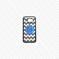 Monogram Samsung Galaxy S6 Case, Chevron Pattern monogram Samsung Galaxy S6 Cover, Cute Samsung Galaxy S6 Case
