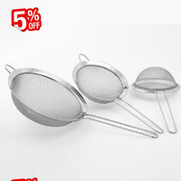 Fine Mesh Stainless Steel Strainers, stainless steel screen mesh oil strainer flour sieve Baking tools