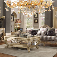 Homey Design HD-4929 Complete Living Room Sofa, Loveseat, Chair & Table Set
