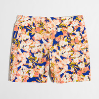 """Factory 5"""" printed stretch chino short : 5"""" 
