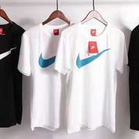 """""""NIKE"""" Print Casual Short Sleeve Shirt Top Tee Blouse G-A-XYCL"""