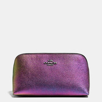 Cosmetic Case 17 in Hologram Leather