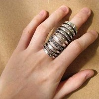 The Knuckle Cage Hinged Ring