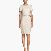 H&M Suede Pencil Skirt $129