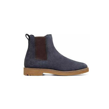 Timberland Men's Cruisemaster Leather Boots Navy Gum Sole