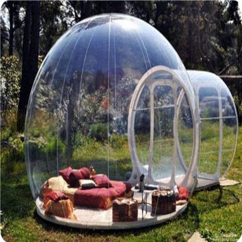 outdoor camping bubble tent, clear inflatable