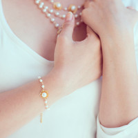 Sun pearls. romantic pearls bracelet