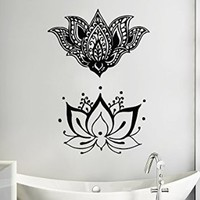 Wall Decals Lotus Yoga Mandala Fatima Hand Hamsa Namaste Indian Buddha Decal Vinyl Sticker Home Decor Bedroom Interior Design Art Mural MS546