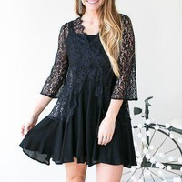One Way Ticket Free People Like Lace Dress - Black