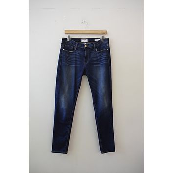 "Frame Denim ""Le Garcon"" Dark Wash Skinnies"