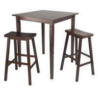 3 Piece Kingsgate High/Pub Dining Table with Saddle Stool