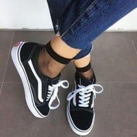 Trendsetter Vans Classics Old Skool Black Sneaker Shoes