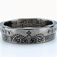 United Kingdom British 20 Pence Coin Ring,Unique Ring,Coin Jewelry,Rings