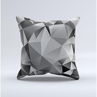 Vector Black & White Abstract Connect Pattern Ink-Fuzed Decorative Throw Pillow