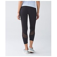 Lululemon Solid Color Tight Stretch Gym Sport Pants Trousers Leggings Sweatpants