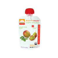 Happy Baby Organic Baby Food Stage 2 Spinach Mango And Pear  3.5 Oz