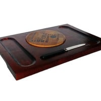 Baribocraft Cheese Board, Mid Century Wood Serving Tray, Appies, Cheese, Crackers