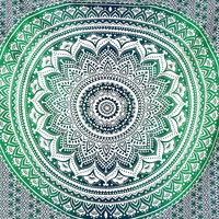 Shopnelo Indian Mandala Tapestry Hippie Hippy Wall Hanging Throw Bedspread Dorm Tapestry Decorative Wall Hanging Bedroom special , Ombre Mandala Tapestries,