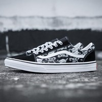 Trendsetter Vans Christma Canvas Flat High-Top Sneakers Sport Shoes