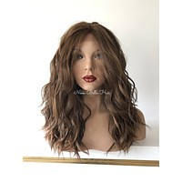Wave Balayage' Silk  Human Hair Blend Multi Parting Lace Front Wig - Holly