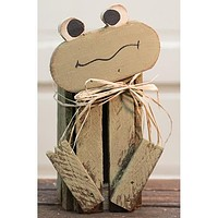 Green Frog Wood Crate
