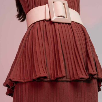 Bell Sleeved Pleated Top