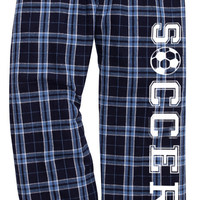 Soccer Columbia Blue Lounge Flannel Pant with Pockets