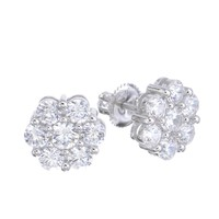 Jewelry Kay style Men's Iced Out 14k G/S Plated Micro Pave Hexagon CZ Screw Back Earrings SHS 613