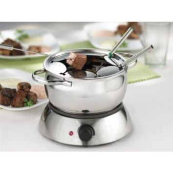 Trudeau Alto 3 in 1 Electric Fondue Set- Stainless Steel