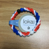 Mynelo  Lokai Bracelet  (Blue and Red and White) (Best for Gift)
