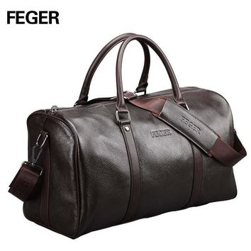 Genuine Leather Extra Large Duffel / Business Travel Bag