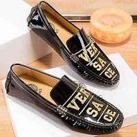 Versace Men Fashion Casual Leather Loafers Shoes
