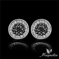 Morpe Trendy Zinc Alloy Crystal Stud Earrings Men M02