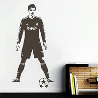 kik2853 Wall Decal Sticker Soccer football player Cristiano Ronaldo Real Madrid living room