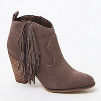 Steve Madden Ohio Suede Upper Fringe Booties at PacSun.com