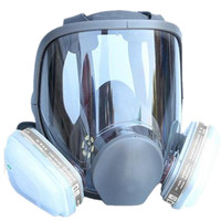 For 6800 Gas Mask Full Facepiece Respirator 7 Piece Suit Painting Spraying with Filter Cartridge free shipping