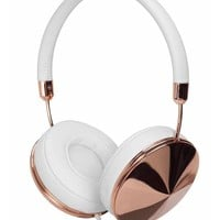 Taylor White Leather & Gold Headphones
