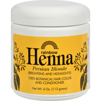 Rainbow Research Henna 100% Botanical Hair Color And Conditioner - Persian Blonde - 4 Oz