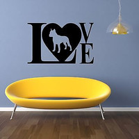 Pitbull Dog Puppy Breed Pet Animal Family Wall Sticker Decal Mural 2930