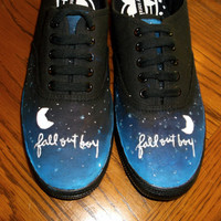 Hand Painted Fall Out Boy Shoes