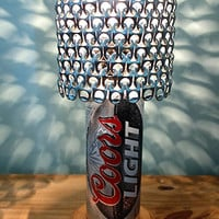 Giant 24 oz Coors Light Football Beer Can Lamp With Pull Tab Lampshade - The Mancave Essential