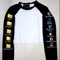 SWEET LORD O'MIGHTY! 90'z INTERNET CHILD RAGLAN