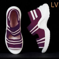 LV Slippers Louis Vuitton Sandals  Breathable platform shoes leisure sports shoes B-ALS-XZ Purple
