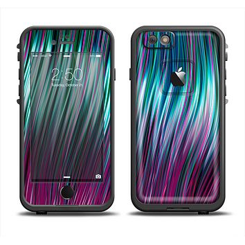 The Pink & Blue Vector Swirly HD Strands Apple iPhone 6 LifeProof Fre Case Skin Set